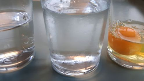 Water vodka egg