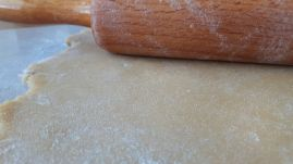 Shortcrust pastry rolled out