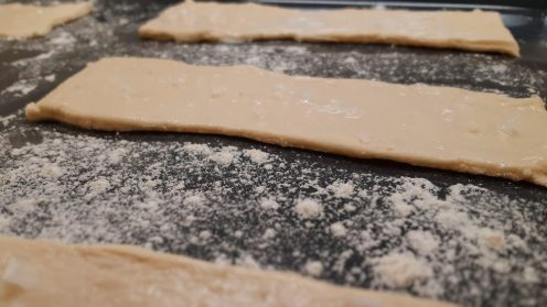 Sea salt biscuits ready to be baked